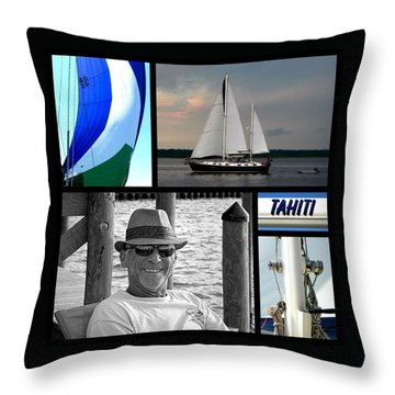 Tahiti Square Collage Throw Pillow