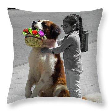 Cuenca Kids 952 Throw Pillow by Al Bourassa