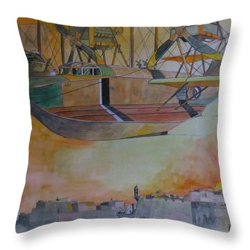 Test Flight Throw Pillow