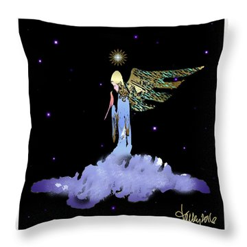 Heavenly Visit Throw Pillow