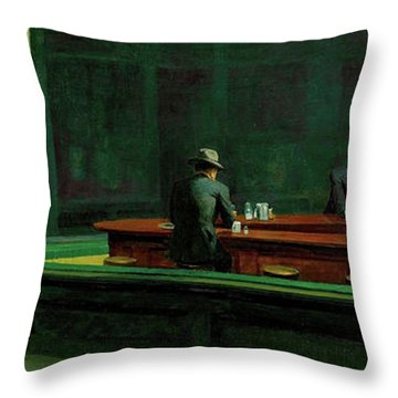 Test Tavern Throw Pillow by Edward Hopper