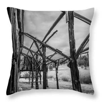 Throw Pillow featuring the photograph Testament by Rhys Arithson