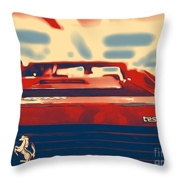 Testarossa Throw Pillow