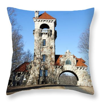 Throw Pillow featuring the photograph Testimonial Gateway Tower #1 by Jeff Severson