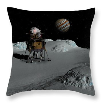 Throw Pillow featuring the digital art Testing The Waters by David Robinson