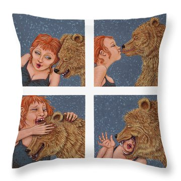 Tete A Tete Throw Pillow