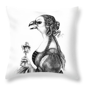 Tete-a-tete With Botticelli Throw Pillow