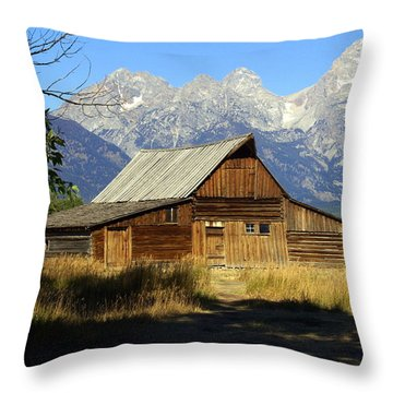 Teton Barn 4 Throw Pillow by Marty Koch