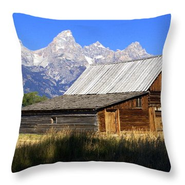 Teton Barn 5 Throw Pillow by Marty Koch
