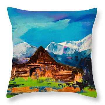 Teton Range Throw Pillows