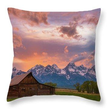 Teton Blaze Throw Pillow