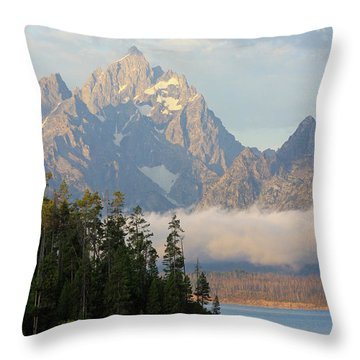 Teton Early Morning Throw Pillow