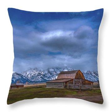 Teton National Park Mormon Row Throw Pillow