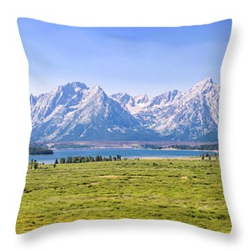 Teton Panorama Throw Pillow