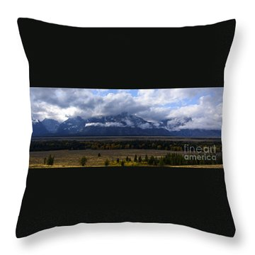 Throw Pillow featuring the photograph Teton Range # 1 by Sandy Molinaro