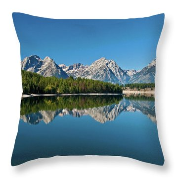 Throw Pillow featuring the photograph Teton Reflections II by Gary Lengyel