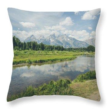 Teton Reflections Throw Pillow