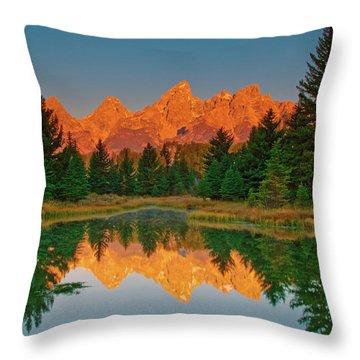 Teton Sunrise Throw Pillow