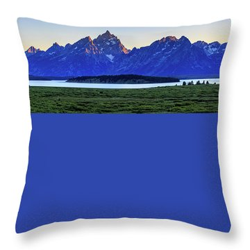 Throw Pillow featuring the photograph Teton Sunset by David Chandler