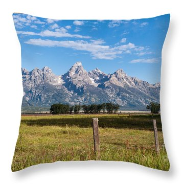 Tetons From Mormon Row Throw Pillow