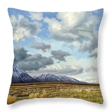 Tetons-moose Throw Pillow