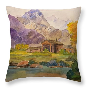 Tetons Ranch Throw Pillow