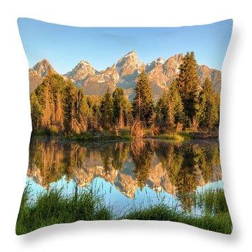 Tetons Reflection Throw Pillow