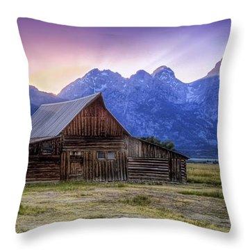 Tetons Sunset Throw Pillow