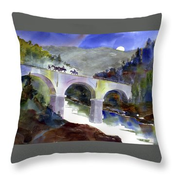 Tevis Crossing 3am Throw Pillow