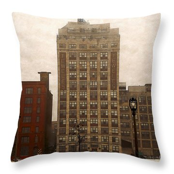 Throw Pillow featuring the digital art Teweles Teweles by David Blank