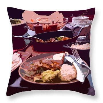 Tex-mex Good Eats Throw Pillow by Doreen Whitelock