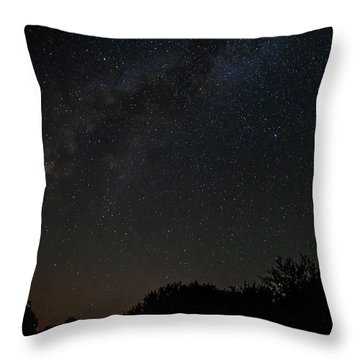 Texas At Night Throw Pillow