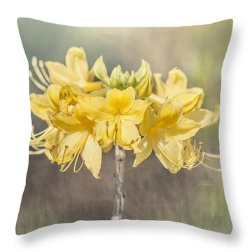 Texas Azalea -textured Throw Pillow