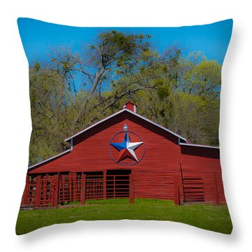 Texas Barn Throw Pillow