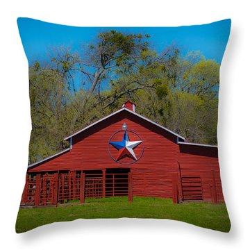 Texas Barn Throw Pillow by John Roberts