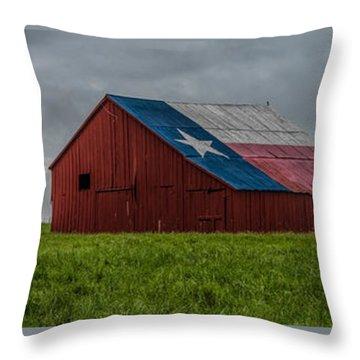 Texas Barn Panorama Throw Pillow