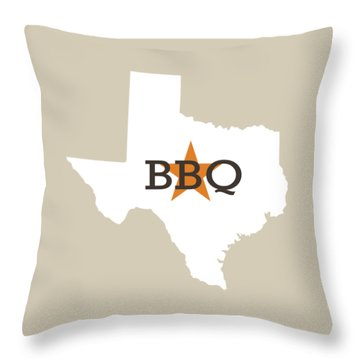 Throw Pillow featuring the digital art Texas Bbq by Nancy Ingersoll