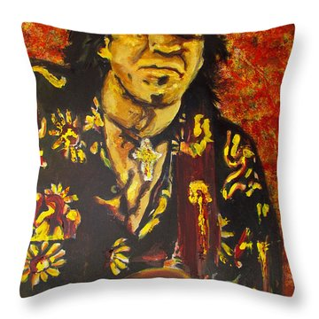 Texas Blues Man- Srv Throw Pillow