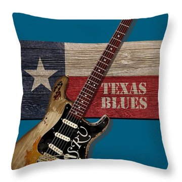 Texas Blues Shirt Throw Pillow