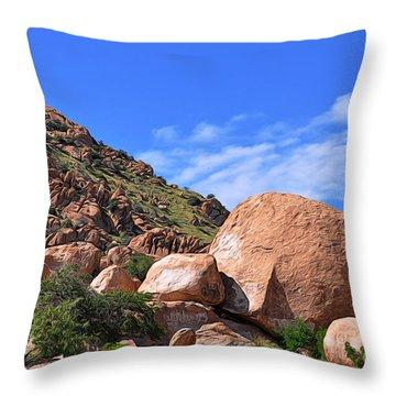 Throw Pillow featuring the photograph Texas Canyon Arizona by Gina Savage