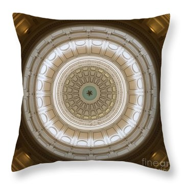 Texas Capital Throw Pillow