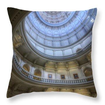 Texas Capitol Dome Interior Throw Pillow