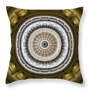 Texas Capitol Dome Throw Pillow