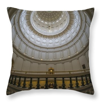 Texas Capitol Dome Wide Angle Throw Pillow