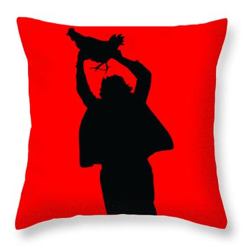 Texas Chicken Massacre Throw Pillow