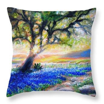 Texas Fanfare Throw Pillow
