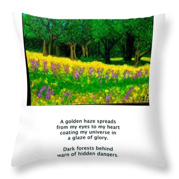 Texas Gold Throw Pillow by Carolyn Donnell