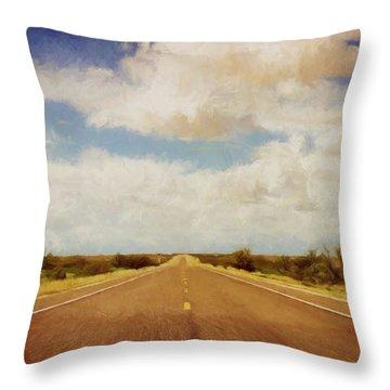 Texas Highway Throw Pillow
