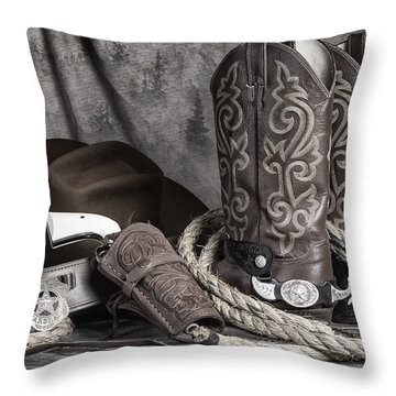 Texas Lawman Throw Pillow