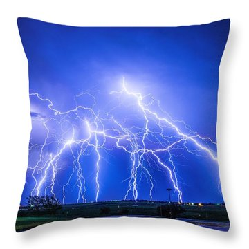 Texas Light Show Throw Pillow